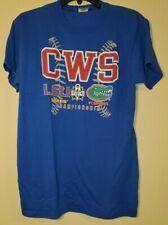 CWS 2017 NCAA Mens College World Series Small S Shirt LSU Tigers UF Gators