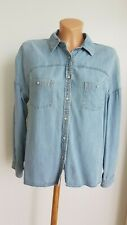 C&A Cindy Grawford Damen Hemd Jeans Bluse Jeanshemd Blau Gr. 38 M Top