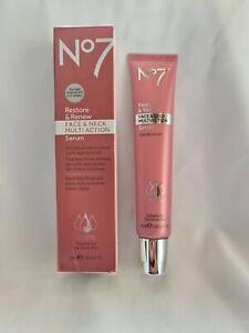 No7 Restore & Renew Face & Neck Multi Action Serum - 50ml NEW UK SELLER