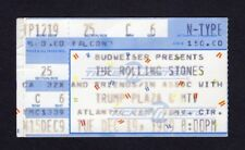1989 Rolling Stones Hooker Clapton Axl Rose Steel Wheels Concert Ticket Stub NJ
