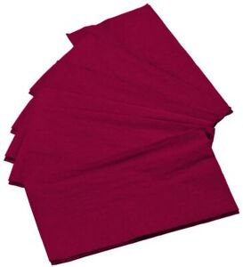 """125-Pack Burgundy Paper Dinner Napkins 15"""" x 17"""", Thick 2-ply, Folded,Wine-Color"""