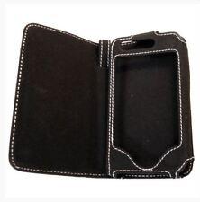 Housse Etui Portefeuille sur mesure façon cuir noir pour APPLE IPHONE 3G et 3GS