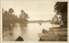 Kennebunkport ME River Scene & Boats c1920 Real Photo Postcard