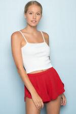 Brandy Melville Red Lisette thermal shorts NWOT