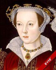 THE LAST WIFE KING HENRY VIII CATHERINE PARRPORTRAIT PAINTING ART CANVASPRINT