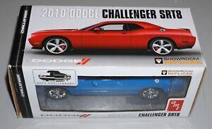 2010 Dodge Challenger SRT8 Blue AMT Window Box Promo 1/25 New In Box.
