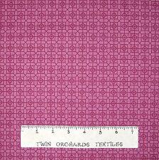 Calico Fabric - Tonal Mauve Geometric Gem Medallion - Northcott OOP YARD