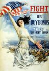 WWI Poster Fight Or Buy Bonds Third Liberty Loan / Howard Chandler Christy 1917