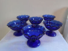 Bowl Blue Date-Lined Glass (1950s, 1960s & 1970s)