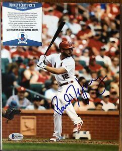 Paul DeJong STL Cardinals Autographed 8x10 W/ BECKETT Authentication