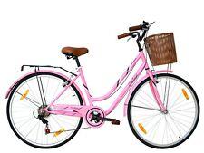 Tigre 'Clásicos' mujer 7 Velocidad Bajo step-through bicicleta híbrida ROSA