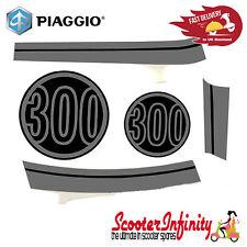 Sticker Decoration Trim for Vespa GTS Super 300 Lucido 094,  grey/black, 5-parts