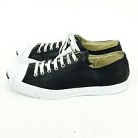 Converse All Star Ox Jack Purcell Mens Black Leather Trainers UK 10 Eur 45