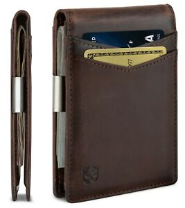 SERMAN BRANDS Money Clip Wallet - Mens Wallets Slim Front Pocket RFID Blocking