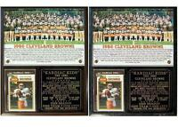 Kardiac Kids 1980 Cleveland Browns Photo Card Plaque Brian Sipe