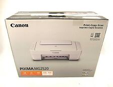 Canon Pixma MG2520 All In One Color Photo Printer Copier Scan USB White 1/2 Ink