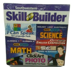 Homeschool Skill Builder NEW SEALED CD 10 LANGUAGES MATH SCIENCE BIOLOGY + MORE!