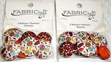 Blumenthal Lansing Fabricraft Buttons FOOD THEME Lot of 2 Packs (16 buttons)