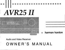 Harman Kardon AVR25II Receiver Owners Manual