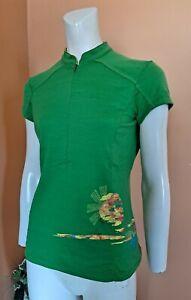 Ibex 1/2 Zip Cycling Athletic 100% Merino Wool Shirt Top Women's Size M Green