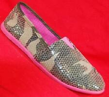 NEW Girls Youth MUDD ROSLYN CAMO Sequence Slip On Loafers Casual/Dress Shoes