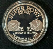 Superbowl XXXIII .999 SILVER Broncos vs. Falcons January 31, 1999 #408 Limited
