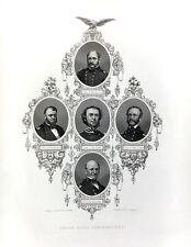 CIVIL WAR UNION NAVY COMMANDERS DAHLGREN DUPONT WINSLOW 1865 Art Print Engraving