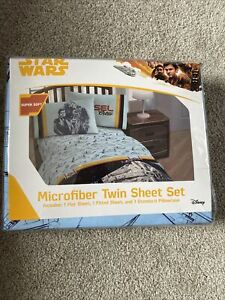 New Disney STAR WARS 3 PIECE Twin Sheet Set Pillowcase Microfiber