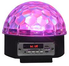 Projecteur jeu de lumière led multi-couleurs effet boule à facette bluetooth