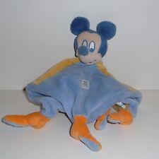 Doudou Souris Mickey Disney - Bleu Jaune Orange