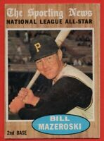 1962 Topps #391 Bill Mazeroski VG-VGEX+ STAIN WRINKLE Pittsburgh Pirates HOF