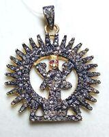 Stainless Silver Charms Pendants Pave Diamond Pendant Natural Sun Shape Pendant