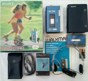 VINTAGE Sony Walkman Personal Tape Cassette Player TPS-L2 BOXED retro WM