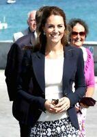 Smythe Les Vestes One Button Navy Blue Duchess Wool Blazer Jacket UK 6 / US 4
