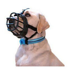 Baskerville Ultra Adjustable Padded Dog Muzzles Black Plastic Basket
