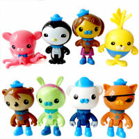 The Octonauts Action Figures Toys Captain Barnacles Medic Peso Kids Gifts 8pcs