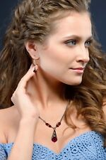 Red Crystal Filigree Pendant Necklace with Crystal by Swarovski