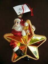 Christopher Radko Nicholas Star Rider Glass Christmas Ornament -1010392