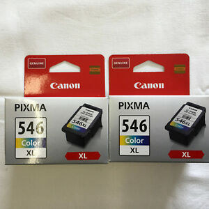 """Canon Pixma Ink Cartridges lot of 2 546 Color XL Genuine """"NEW"""" SEALED"""