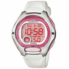 Casio Women's LW-200-7AVDF White Resin Quartz Watch with Digital Dial