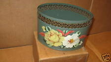Vintage Toleware Tole Yellow Roses Beautiful
