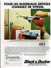 Publicité Advertising 1977 La perceuse à percussion Black & decker