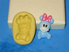 Baby Minnie Mouse Push Mold Baby Shower Silicone Cake Chocolate Resin Clay A263