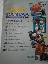January 1992 Plastic Canvas World Pattern Book Magazine Tote Santa Towel Dolls