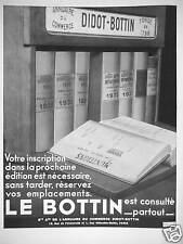 PUBLICITÉ LE DIDOT BOTTIN EST CONSULTÉ PARTOUT ANNUAIRE DU COMMERCE