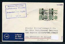 62360) LH FF Amsterdam - Los Angeles USA 2.4.69, Brief ab Dänemark