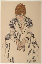 Egon Schiele Portrait of Adele Harms Giclee Canvas Print Paintings Poster