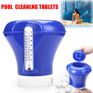 Floating Swimming Pool Chlorine Bromine Chemical Tablet Tabs Floater Dispenser