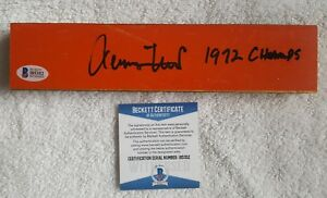 Signed Jerry West w/insc. 1972 champs Game Used Lakers Forum Floor  BAS Beckett