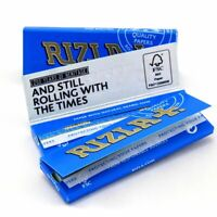 1//5/10/20/50/100 Rizla Blue Regular Size Rolling Papers - Fast Free Delivery
